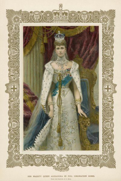 ALEXANDRA QUEEN TO EDWARD VII Wearing her coronation robes