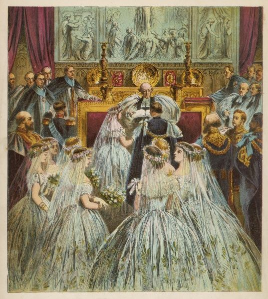 Marriage of the Prince of Wales (later Edward VII) and Alexandra at St George's Chapel, Windsor Date: 1863