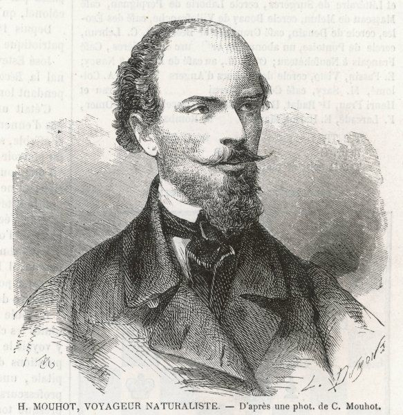 HENRI MOUHOT French naturalist and explorer; discovered the ruins of Angkor in Cambodia in 1858