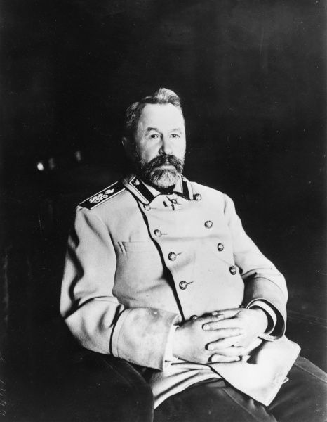 Alexei Nikolayevich Kuropatkin (1848-1925), Russian Imperial Minister of War (1898-1904), active in the Russo-Japanese War, seen here in 1906
