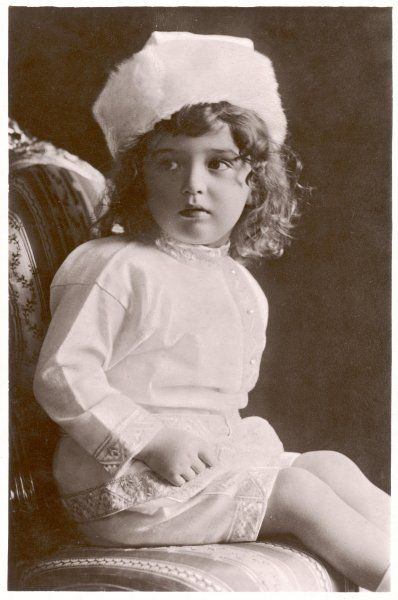 ALEXIS TSAREVICH OF RUSSIA Son of Nicolas II and Alexandra, heir apparent to the Russian throne, as a toddler