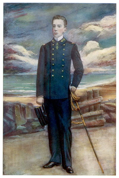 ALDONSO XIII, KING OF SPAIN In military uniform, with the sea in the background