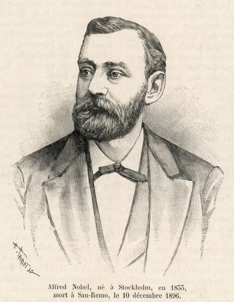 ALFRED NOBEL The Swedish manufacturer of gunpowder and prizegiver