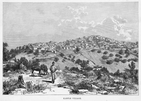 Distant view of a Kabyle village