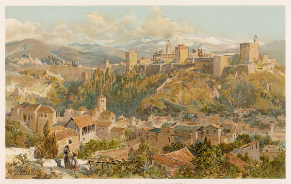 A view of Granada and the Alhambra