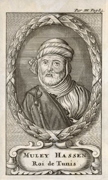 ALI II IBN HUSSEIN (?) Bey of Tunis (Tunisia) from 1759 - 1777. A de-facto regent or provincial governor during the French Protectorate. Muley Hassen Roi de Tunis&#39