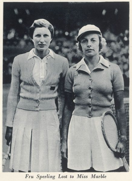 Alice Marble (1913-1990), American tennis player, who was the first woman to win both the US Open and Wimbledon singles titles in the same year, as well as the ladies' doubles and mixed doubles. She also pioneered the wearing of shorts for tennis