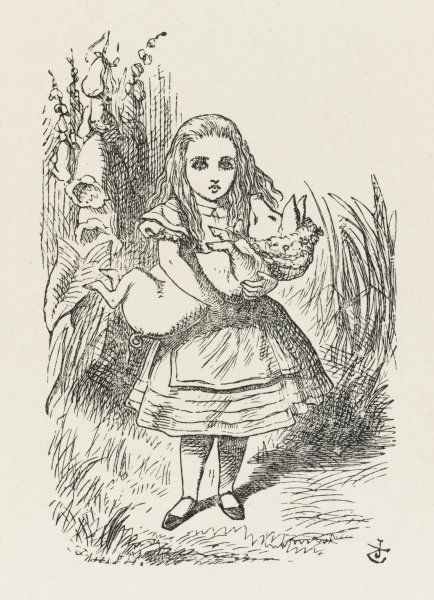 Alice with the pig-baby