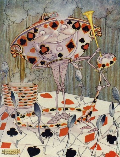 Alice in Wonderland by Charles Folkard. Beautiful soup 1921