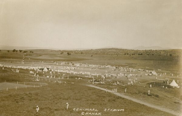 Stadium for Sports Events - at Ben Marl, Chanak - set up by the occupying Allied forces