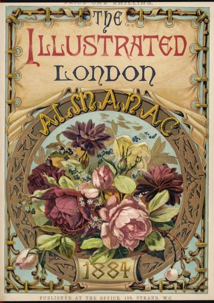 A cover design featuring a floral arrangment