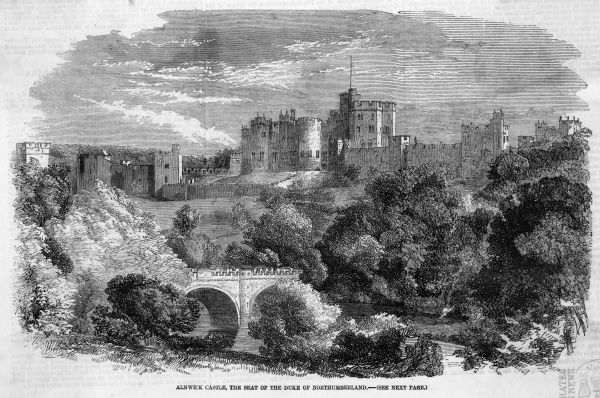Alnwick Castle, Northumberland, seat of the duke of Northumberland