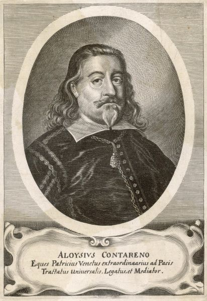 ALOYSIUS CONTARENO Venetian diplomat, mediator in the Thirty Years War and at one time ambassador to James I of England