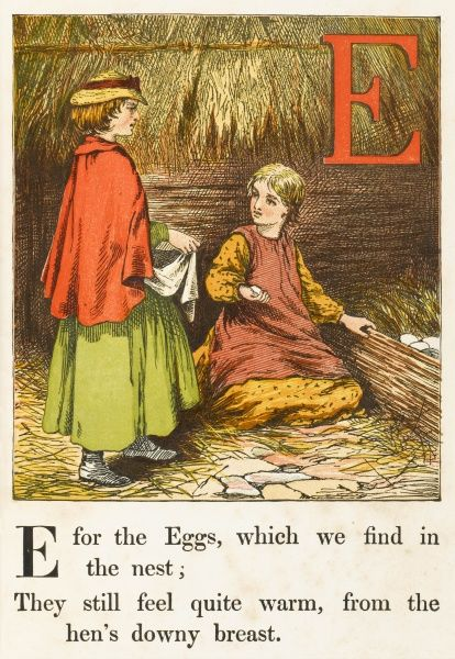 'E' - for eggs, which we find in the nest