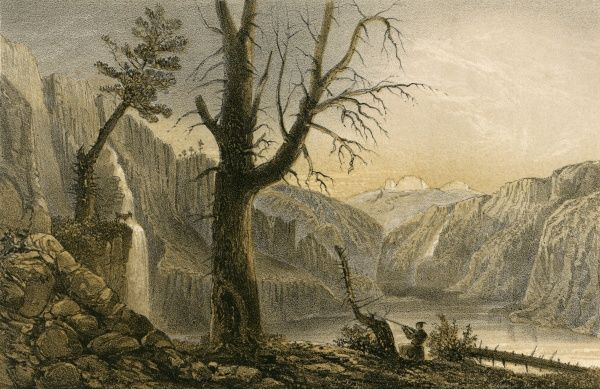 Scene in the Altai mountains, western Siberia, near the source of the Tschugash. Date: 1858