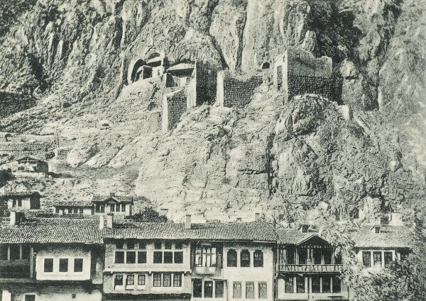 An extremely rare postcard showing Amasya, Turkey