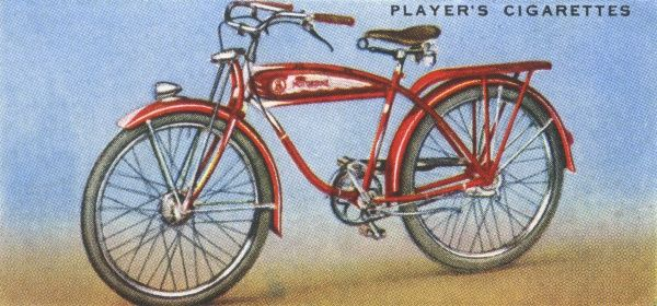 American bicycles are fitted with all kinds of gadgetry compared with European machines. Date: 1939