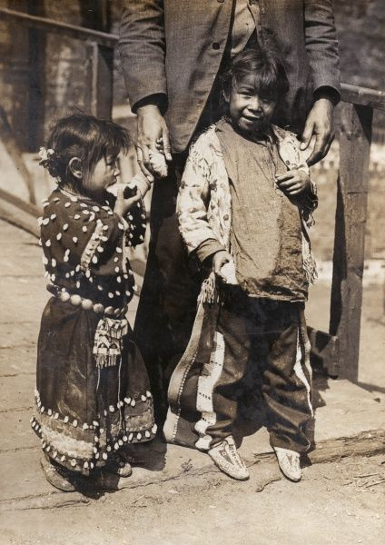 American Indian children in London as part of the Golden West and American Industries Exhibition at Earls Court