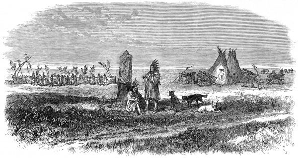 Cree Indians living near Lake Winnipeg, were involved in this border dispute between the British in Canada and the Americans