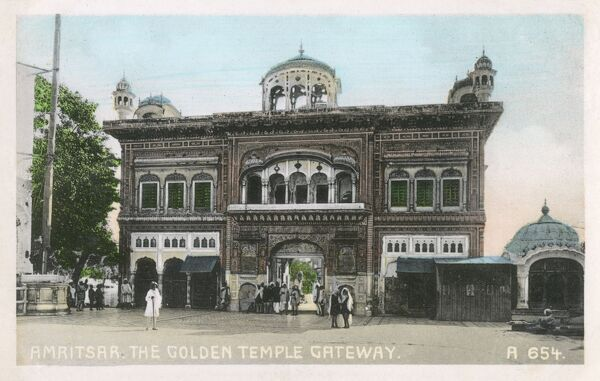 Amritsar, India - Gateway to the Golden Temple - the spiritual centre for the Sikh religion. Date: circa 1910s