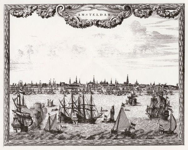 Amsterdam: distant view, with ships