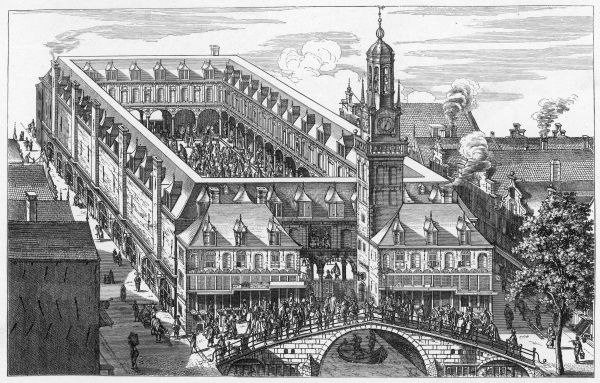 The Exchange in Amsterdam, which burnt down in 1858