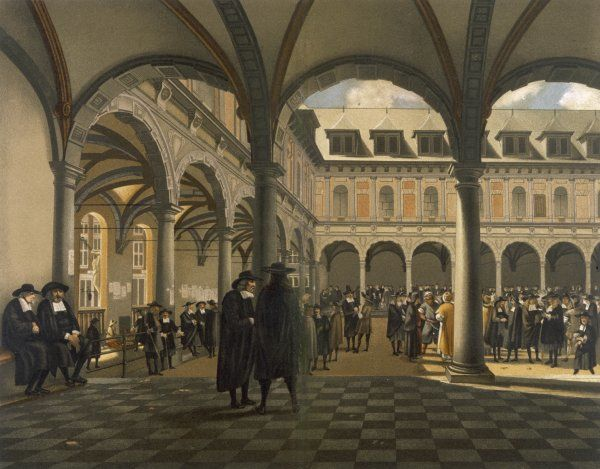 A general scene at the Amsterdam stock exchange