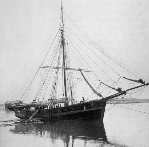 In the herring boat 'Gjoa', Amundsen and his crew became the first to traverse the North-west Passage