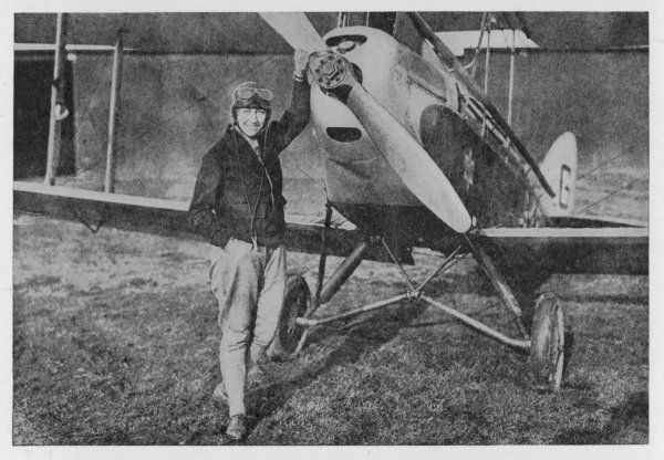 Standing next to the Gypsy Moth in which she made the first solo flight by a woman from London to Australia
