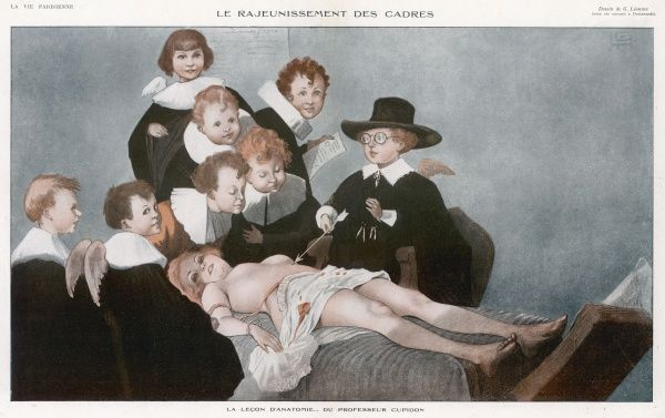 'The Anantomy Lesson': Professor Cupid and his young pupils