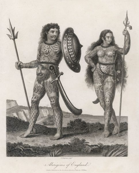 Ancient Britons dressed in woad