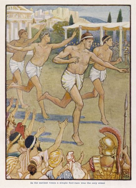 In the earliest times, a simple foot-race was the only event in the Ancient Olympics