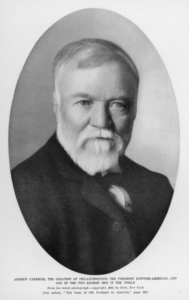 ANDREW CARNEGIE (1835 - 1919) Scottish American industrialist