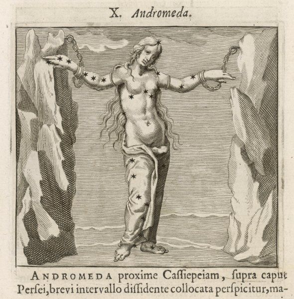 ANDROMEDA waiting to be rescued by Perseus