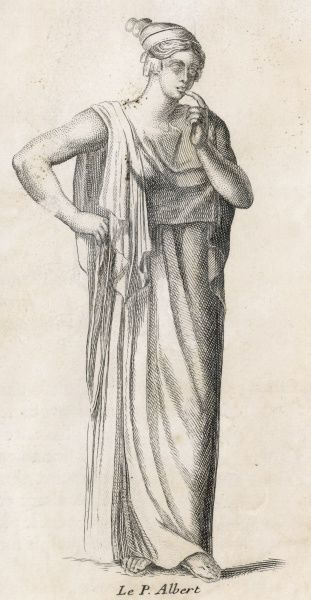 A Roman goddess of obscure attributes : depicted here with finger to lips, she is also represented with her mouth bound, so there are connotations of secrecy
