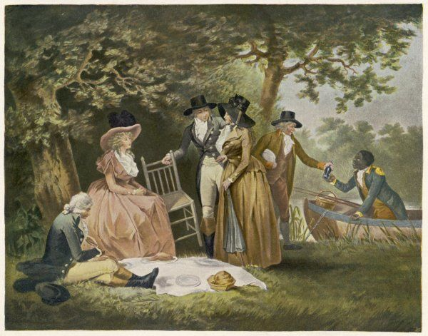 The Anglers' repast - a picnic