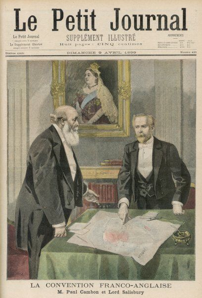 Paul Cambon & Lord Salisbury sign the Anglo-French agreement on Africa