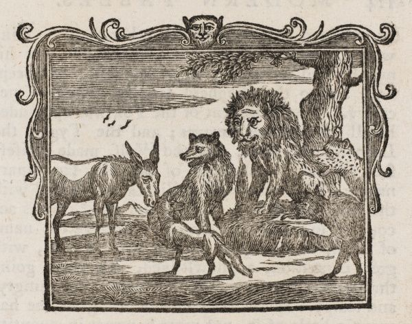 THE PLAGUE AMONG THE BEASTS The donkey, whose sin is no more than to eat grass, is sacrificed by the other animals to relieve them of the plague that scourges them