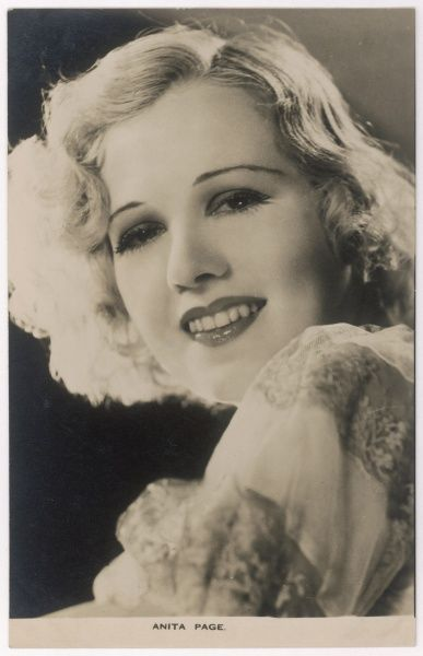 Anita Page, actress who appeared in silent movies and then talkies, appearing alongside such performers as Buster Keaton, Lon Chaney and Joan Crawford