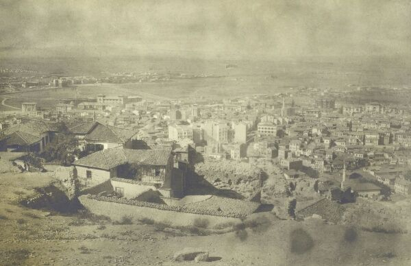Ankara, Turkey - panoramic view - prior to the wide-scale development in the years which followed. Date: circa 1928