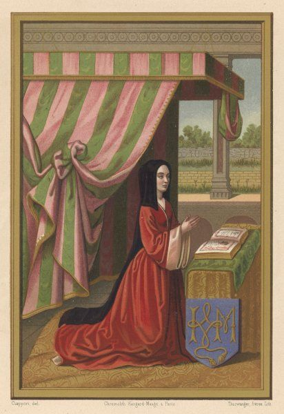 ANNE DE BEAUJEU also known as Anne de France, daughter of Louis XI and wife of Pierre de Bourbon