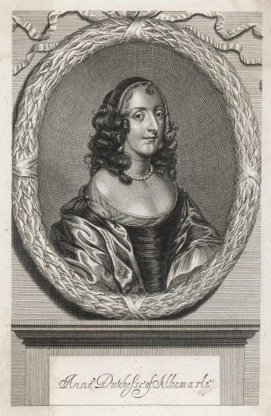 ANNE CLARGES, duchess of ALBEMARLE wife of George Monck