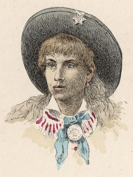 ANNIE OAKLEY (Phoebe Annie Oakley Mozee) American sharpshooter, star of Buffalo Bill's Wild West show