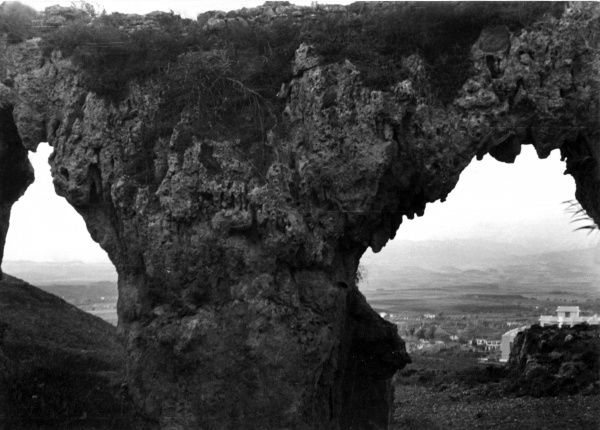 An old bridge near Antioch (Antakya), Turkey, showing the decomposed stones of this remarkable structure. Date: 1930s photo