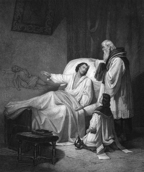 ANTONIO ARIAS FERNANDEZ Spanish artist, presumably on his deathbed, and presumably explaining what he would like to paint if he only felt up to it. Date: 1620 - 1684