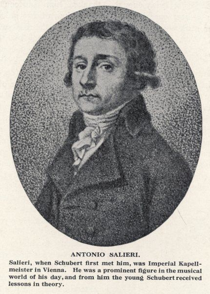 ANTONIO SALIERI Italian composer, Court Kapellmeister in Vienna (1788- 1824). Unfounded rumour that he tried to poison Mozart