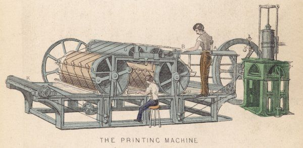 Printing press by APPLEGARTH & COWPER