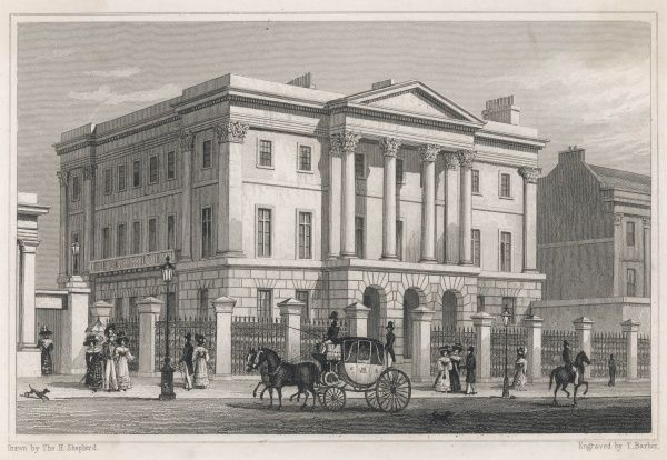 Apsley House, Hyde Park Corner, home of the Duke of Wellington Date: 1829