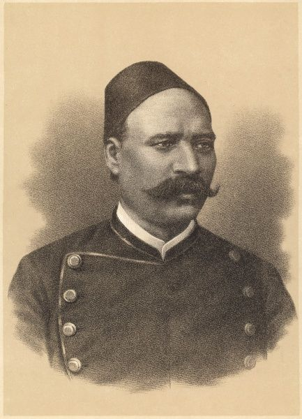 AHMED ARABI PASHA AL-MISRI Egyptian nationalist, leader of the insurrection against British authority, 1882