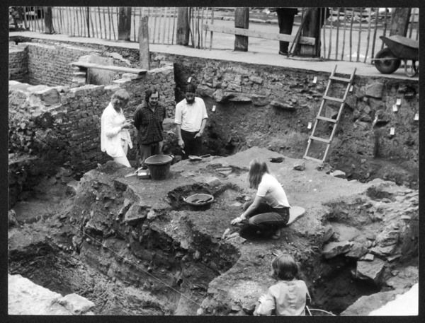 An archaeological dig on a Roman site at Chester, England